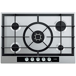 AEG HG755440SM 5 Burner Gas Hob Stainless Steel 750mm