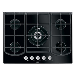 AEG HG795440NB 5 Burner Gas On Glass Hob Black 750mm