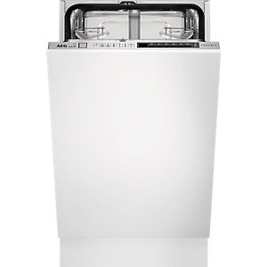 AEG F78400Vi0P Slimline Integrated Dishwasher White 450mm