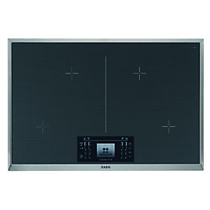 AEG HK884400 x G 4 Zone Induction Hob Stainless Steel Frame 800mm