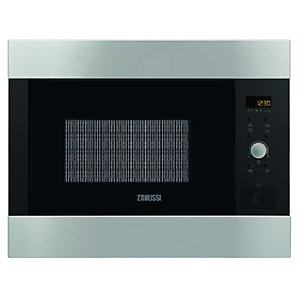 Zanussi ZBG26542XA Built-in 26 Litre Microwave with Grill Stainless Steel 900W