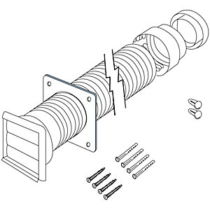 Electrolux CDK5F Flexible Ducting Kit 125mm