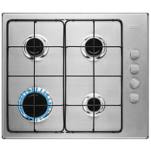 Zanussi ZGG67412 x A Gas Hob Stainless Steel