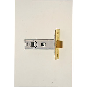 Wickes CE Bolt Through Tubular Latch Brass Finish 64mm
