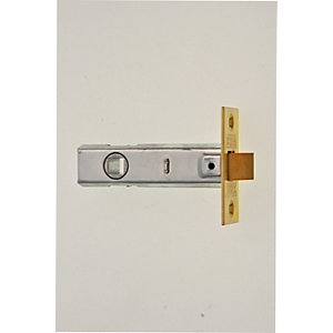 Wickes CE Bolt Through Tubular Latch Brass Finish 76mm