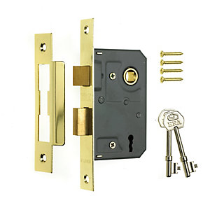 ERA 2 Lever Mortice Sashlock 64mm Brass