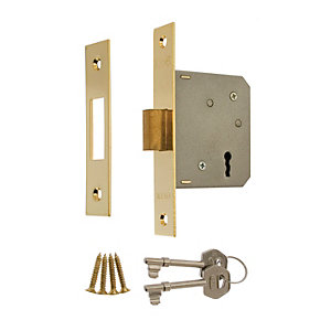 Era 3 Lever Deadlock 64mm Brass