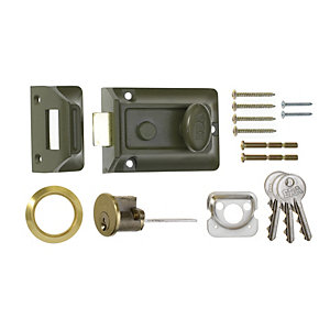 ERA Traditional Door Lock 60mm Green/Brass