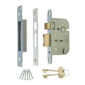 4Trade Mortice Sashlock 5 Lever Satin 64mm