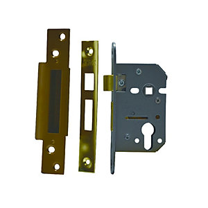 4Trade Mortice Sashlock Case Euro Profile Brass 64mm