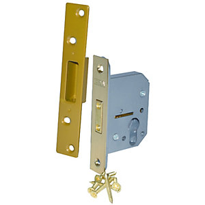 4Trade Mortice Deadlock Case Euro Profile Brass 64mm