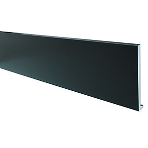 Wickes PVCu Black Fascia Board 18x175x4000mm