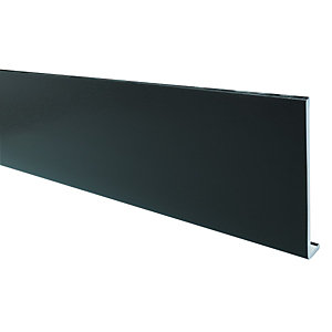 Wickes PVCu Black Fascia Board 4 Pack 9x225x4000mm