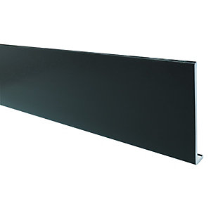 Wickes PVCu Black Fascia Board 9x175x2500mm