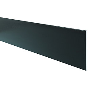 Wickes PVCu Black Soffit Reveal Liner 300 x 2500mm