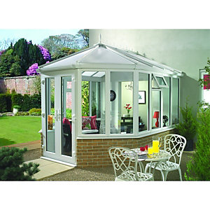 Wickes Victorian Conservatory V7 Dwarf Wall White 3752x4871mm