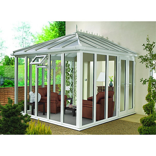 Wickes Edwardian Conservatory E2 Full Height White 2530x3060mm