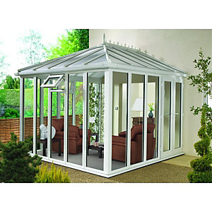 Wickes Edwardian Conservatory E8 Full Height White 3880x3810mm