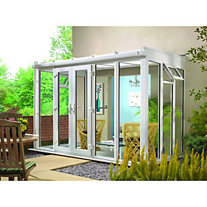 Wickes Traditional Conservatory T1 Full Height White 2530 x 1260mm