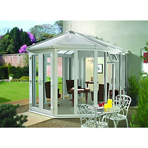 Wickes Victorian Conservatory V7 Full Height White 3759 x 4875mm