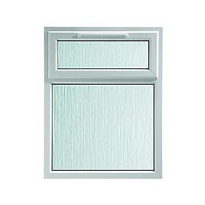 Wickes Upvc A Rated Casement Window White 1190 x 1010mm Top Hung Obscure Glass