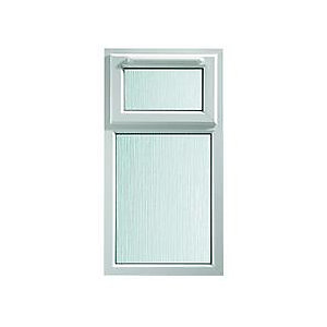 Wickes uPVC A Rated Casement Window White 1010x610mm Top Hung Obscure Glass