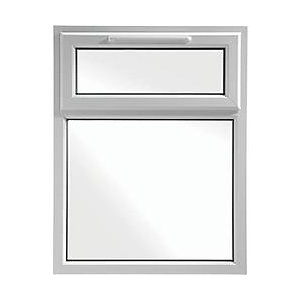 Wickes uPVC A Rated Casement Window White 1010x1190mm Top Hung
