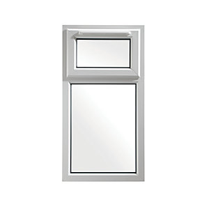 Wickes Upvc A Rated Casement Window White 1010 x 610mm Top Hung
