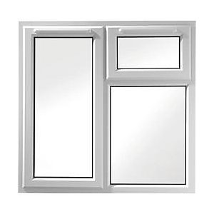 Wickes uPVC A Rated Casement Window White 1010x1190mm LH Side Hung & Top Hung