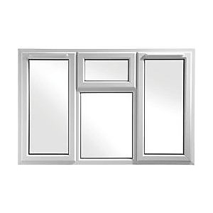 Wickes Upvc A Rated Casement Window White 1770 x 1010mm Side & Top Hung