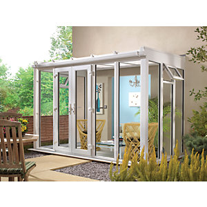 Wickes Traditional Conservatory T10 Full Height White 4630x2310mm