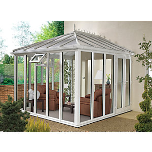 Wickes Edwardian Conservatory E13 Full Height White 4630x4560mm