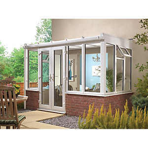 Wickes Traditional Conservatory T11 Dwarf Wall White 4630x3060mm