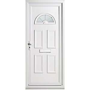 Wickes Carolina Pre-Hung uPVC Front Door Set 2085x920mm Right opening