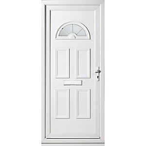 Wickes Carolina Pre-Hung uPVC Front Door Set 2085x920mm Left opening