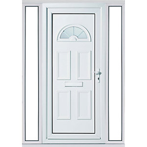 Wickes Carolina 2 Sidelight uPVC Door Set 2085x1520mm Right opening