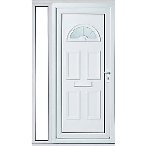 Wickes Carolina 1 Sidelight uPVC Door Set 2085x1220mm Right opening