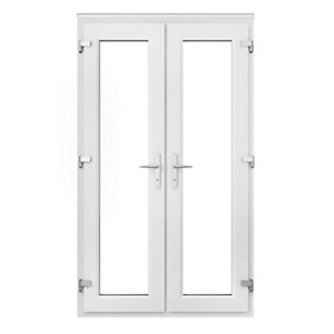 Wickes Upvc French Door 4ft with Chrome Handles