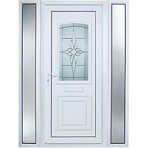 Wickes Medway Pre-Hung uPVC Door 2085x1520mm Right Opening