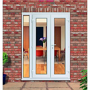 Wickes uPVC French Doors 5ft With 1 Demi Panel 300mm