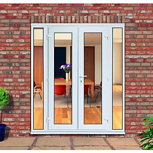 Wickes uPVC French Doors 8ft With 2 Demi Panels 300