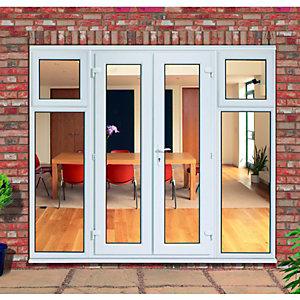 Wickes Upvc French Doors 8ft with 2 Side Sash Panels 600mm