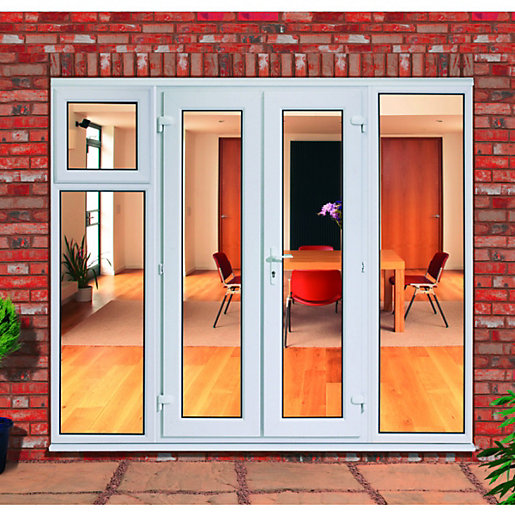 Wickes upvc french doors 8ft with 1 sash 1 side panel for Upvc french doors with side panels