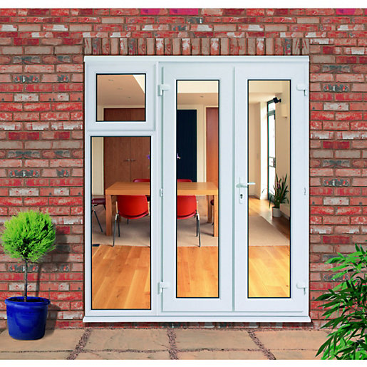 Wickes upvc french doors 5ft with 1 side sash panel 600mm for Upvc french doors cheap