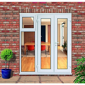 Wickes uPVC French Doors 8ft With 1 Side Sash Panel 600mm