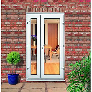 Wickes Upvc Offset French Doors 4ft with 1 Demi Panel 300mm