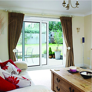 Wickes Washington uPVC Patio Door Set White 5ft Wide Reversible
