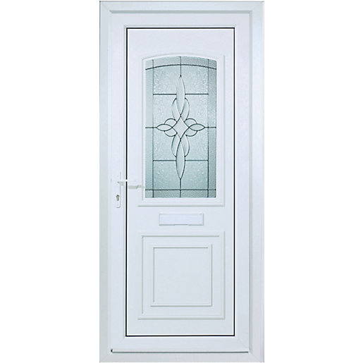 Wickes medway pre hung upvc door 2085 x 920mm left hand for Door viewer wickes