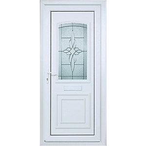 Wickes Medway Pre-Hung uPVC Door 2085x920mm Left Opening