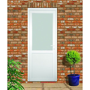 Wickes Tamar Pre-Hung uPVC Door 2085x920mm Left Opening